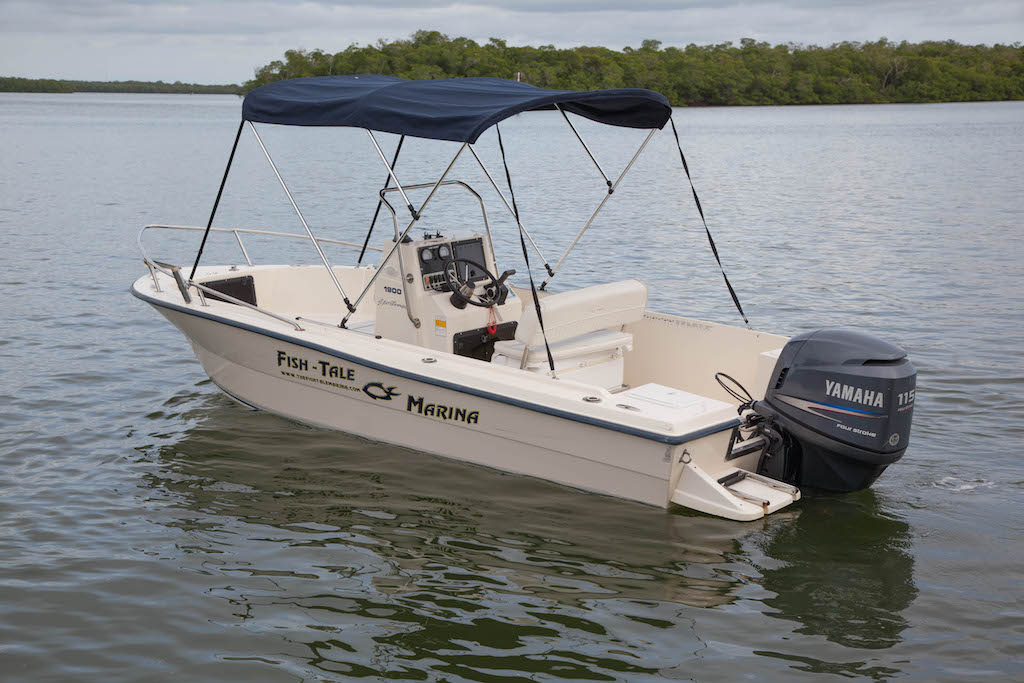 19 ft key west center console fish tale marina for Key west fishing boats